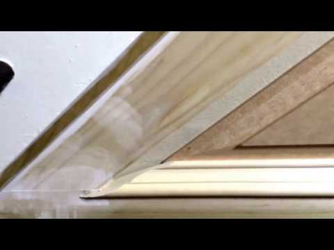 Cutting panel moulding for angles greater than 90 degrees