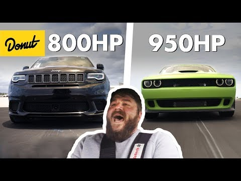 1750 Horsepower Combined! Jeep TrackHawk & Dodge Hellcat | The New Car Show