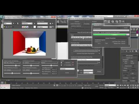 3D Max Studio Lighting Tutorial: How to Quickly Render with Mental Ray Rendering Engine