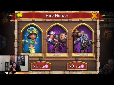 Rolling 21k Free 2 Play Gems Hero Collector Beautiful Session Castle Clash