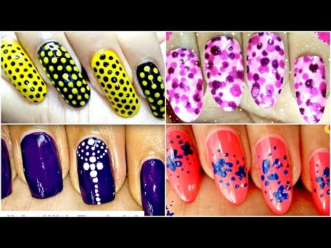 8 Different Nail Art Designs using Dotting Tool