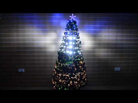 LED Fibre Optic Christmas Trees 6084