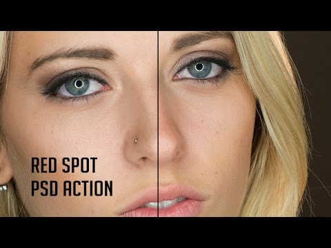 Red Spot Reduction Photoshop Action [Download]