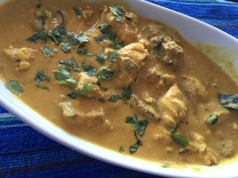How to make Chicken Mushroom Korma in Coconut Gravy | Indian Chicken Curry Recipe