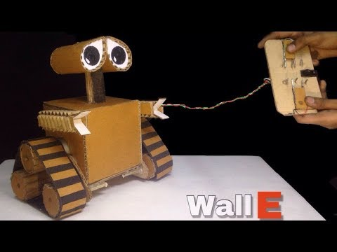 How to make WALL-E Robot at home from Cardboard (DIY)