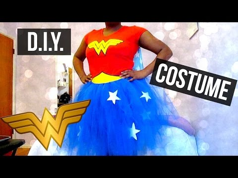 DIY Wonder Woman Tutu Costume | No Sew!