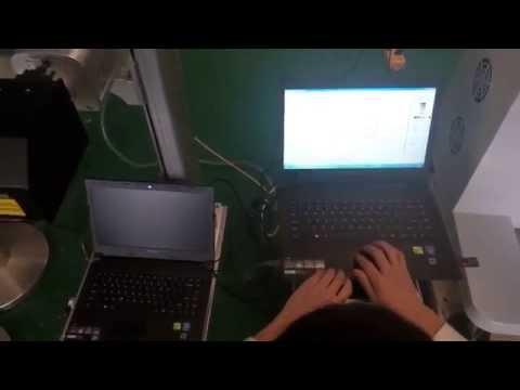 Arabic letters typesetting marking on laptop keyboard