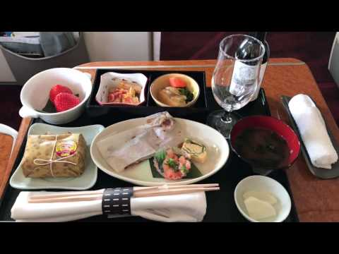 JAL日本航空 国内線ファーストクラス 機内食 Japan Airlines domestic flight first class in-flight meal. Tokyo to Okinawa.