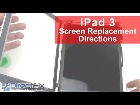 iPad 3rd Gen Glass Digitizer Replacement Directions