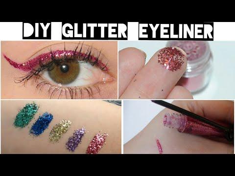 DIY Homemade Glitter Gel Eyeliner