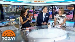 Weekend TODAY Celebrates Sheinelle Jones' Birthday With Cupcakes | TODAY