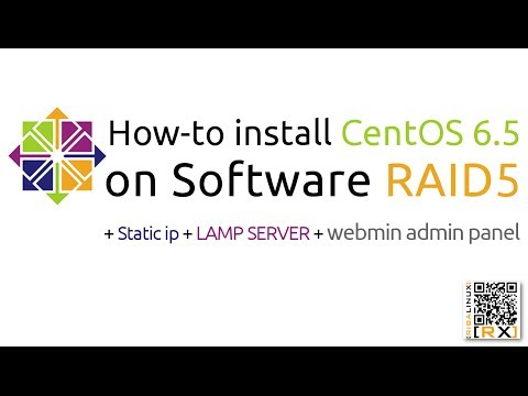 How-to install CentOS 6.5 on Software RAID5 + Static ip + LAMP SERVER + webmin admin panel [HD]