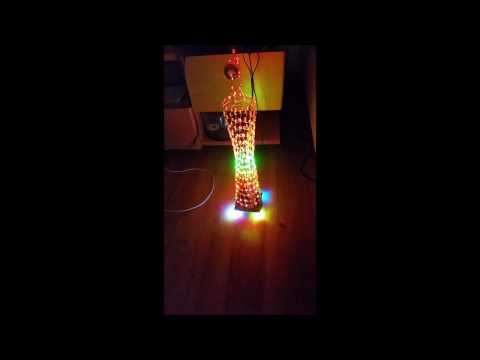 DIY LED Light Cube Canton Tower Suite Wireless Remote Control Electronic Kit