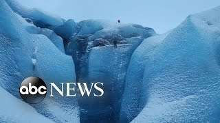 Into the Ice: Using a Drone to Explore Inside a Glacier