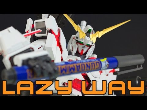 HOW TO PANEL LINE GUNDAMS: THE LAZY ARSE WAY! - PANEL LINING TUTORIAL