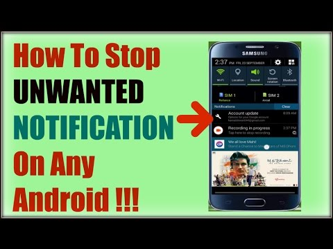 HOW TO STOP UNWANTED NOTIFICATION ON ANY ANDROID