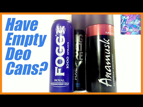 How To Make Spray Paint Can From Empty Deo Can