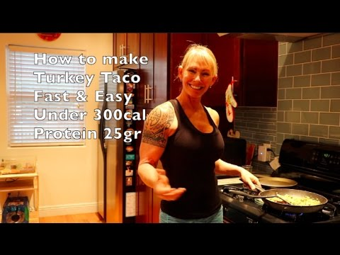 How to make low fat turkey tacos
