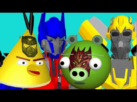 TRANSFORMERS 3 spoof ☺ 3D animated  ANGRY BIRDS spoof FunVideoTV - Style ;-))