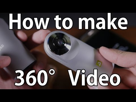 How to make 360 degree video for YouTube using LG 360 - Complete!