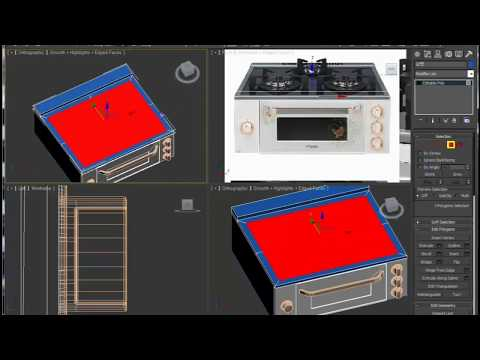 3ds max Tutorial:gas stove Modeling