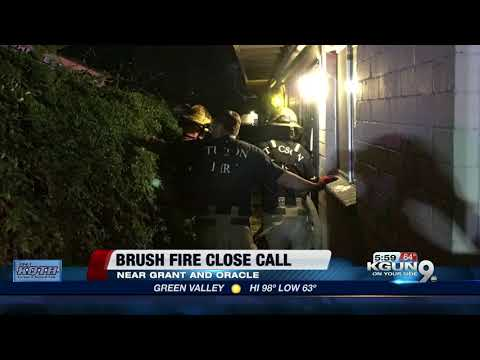 Residents, Apartment safe after a close call with a brush fire