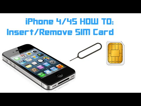 iPhone 4 / 4S HOW TO: Insert / Remove a SIM Card