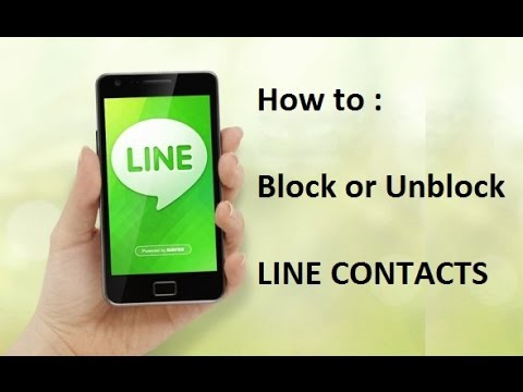 How to Block or Unblock Contacts/Numbers on LINE APP - 2014