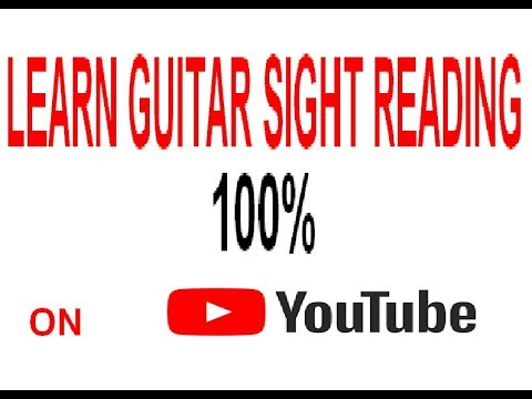 100 % course on how to sight read guitar part 1
