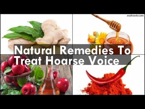 Natural Remedies To Treat Hoarse Voice