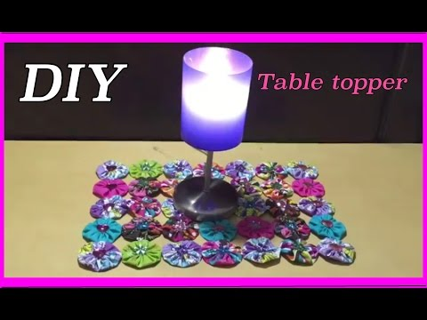 Table Topper Project/ Table Decorations DIY Assorted Fabrics  #25