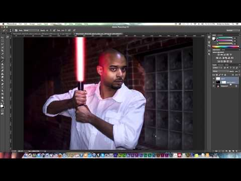 Photoshop Starwars Lightsaber Effect Tutorial | Photoshop CC