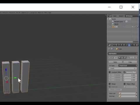 Introduction to the array modifier in Blender