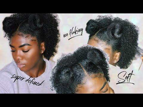 Natural Hair | Defined Wash N Go [Short Type 4 Hair] NO FLAKING!
