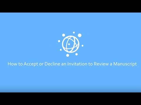 How to Accept or Decline an Invitation to Review a Manuscript at PLOS