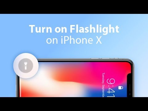 How to Turn On/Off Flashlight on iPhone X