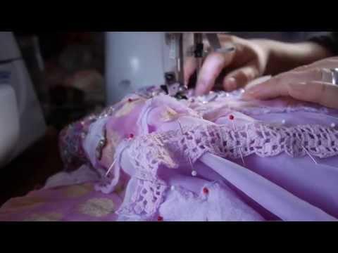 Making a pretty Pink Princess prom dress