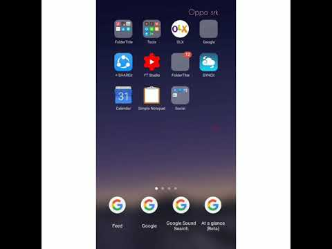 Oppo all Mobile's  how to get Google Search bar home screen