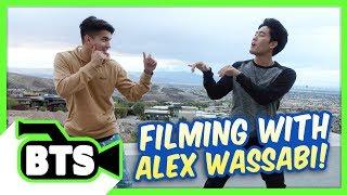 Filming with Alex Wassabi (BTS)