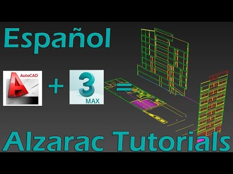 3ds max tutorial - Basico - Distribuir información de Autocad en 3ds max
