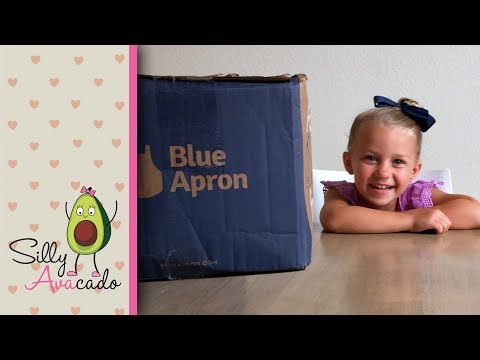 Do Kids Like Blue Apron? 💜 Blue Apron Unboxing & Review 💜 1st Meal Delivery Kit Review!