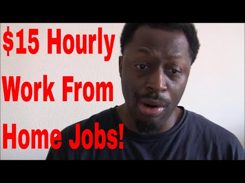 $15 HOURLY!! Work From Home Jobs With Benefits