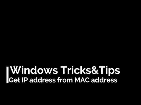 How to get IP address from MAC address