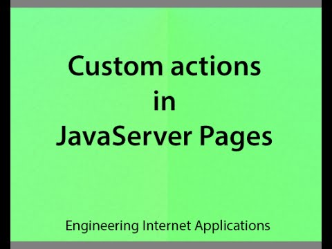 v23 Introduction to JSP custom actions