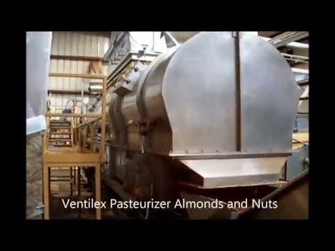 Steam pasteurizer almonds and nuts Ventilex