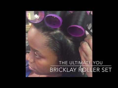 How to roller set (bricklay) and wrap relaxed hair