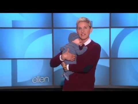 Ellen DeGeneres getting cozy with a newborn!