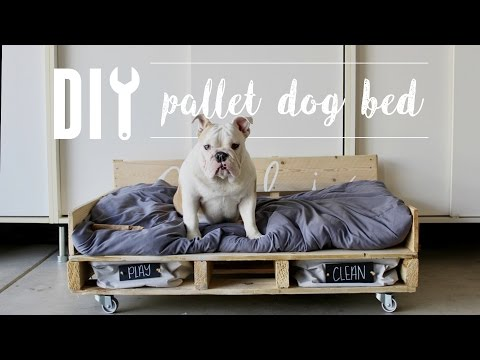 DIY Pallet Dog Bed // Home Depot