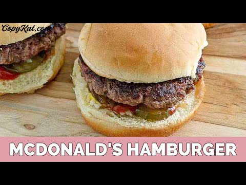 How to Make McDonalds Hamburger