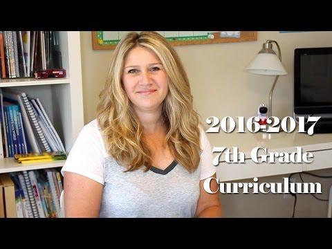 2016-2017 7th Grade Homeschool Curriculum